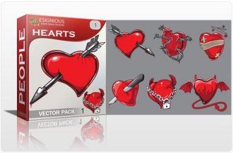Hearts vector pack 1 People knife