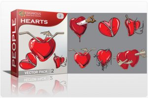 Hearts vector pack 2 People cocktail