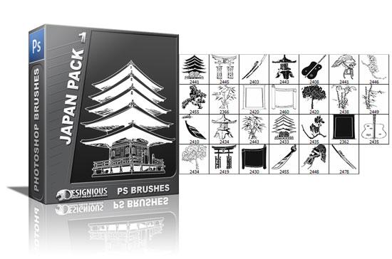 Japan brushes pack 1 5