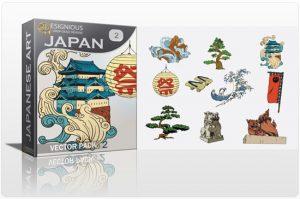 Japan vector pack 2 Japanese Art shoe