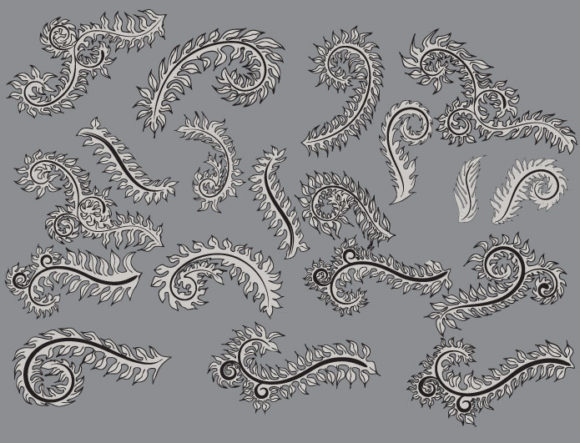 Floral vector pack 10 products leaf l10 prewiv