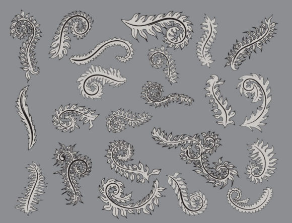 Floral vector pack 11 products leaves 11