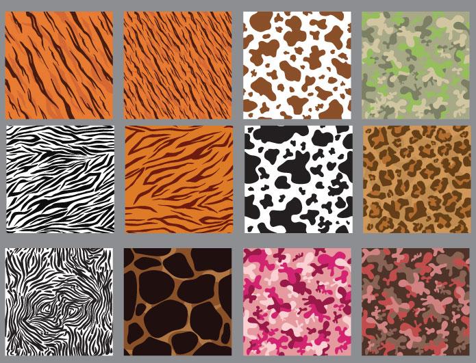 Seamless patterns vector pack 11 animal print Patterns pattern