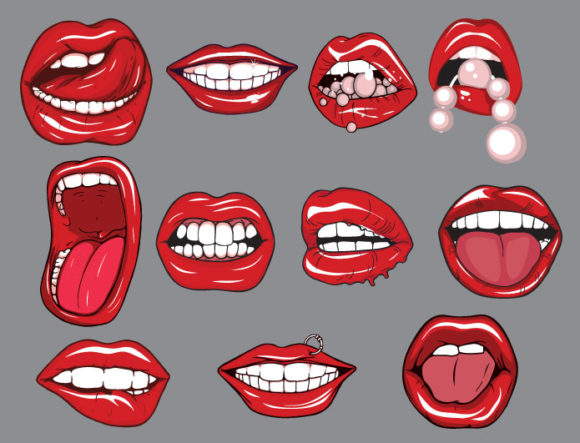 Lips vector pack 2