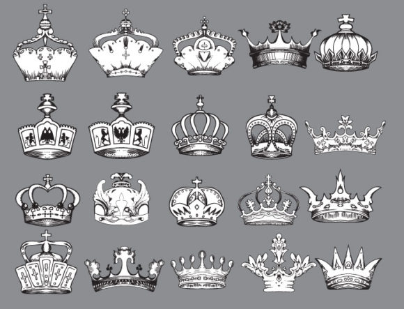Crowns vector pack 2