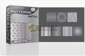 Seamless patterns vector pack 12 metal Patterns pattern