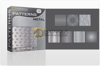 Seamless patterns vector pack 12 metal Vector Patterns pattern