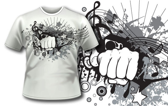 T-shirt design 66 products music design 66
