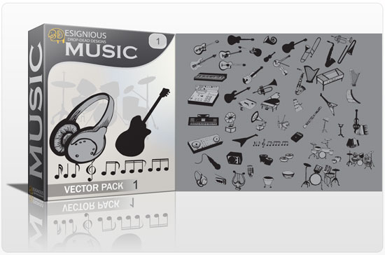Music vector pack products music guitar