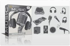 Music vector pack 2 Music mic