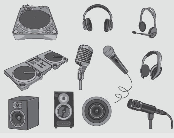 Music vector pack 2 products music stereos speaker 2 prewiev