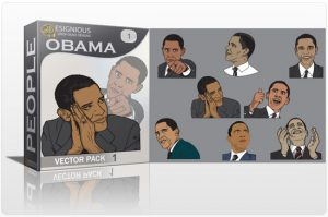 Obama vector pack Vector packs vector
