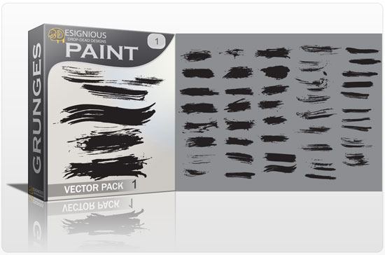 Paint vector pack Halftones & grunges grunge