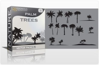 Palm trees vector pack Nature palm