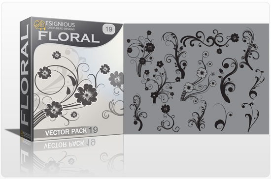 Floral vector pack 19 products petal 19