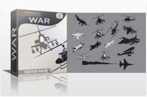 War vector pack 2 War plane
