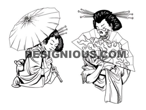 Geisha brushes pack 1 6