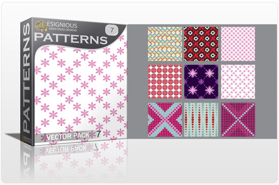 Seamless Patterns vector pack 7 Vector Patterns flowers