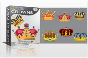 Crowns vector pack 2 Heraldry antiquity