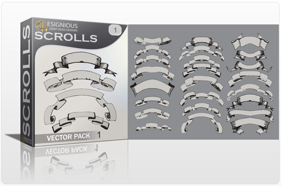 Scrolls vector pack 1 products scrolls 1