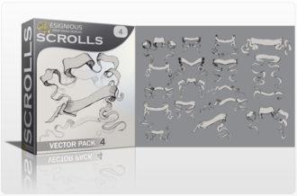 Scrolls vector pack 4 Scrolls ribbon