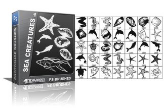 Sea creatures brushes pack 1 Nature brushes [tag]