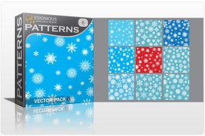 Seamless patterns vector pack 6 Patterns pattern