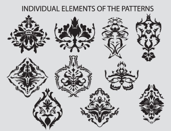 Seamless Patterns vector pack 1 Vector Patterns victorian