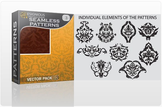 Seamless Patterns vector pack 3 products seamless3 1