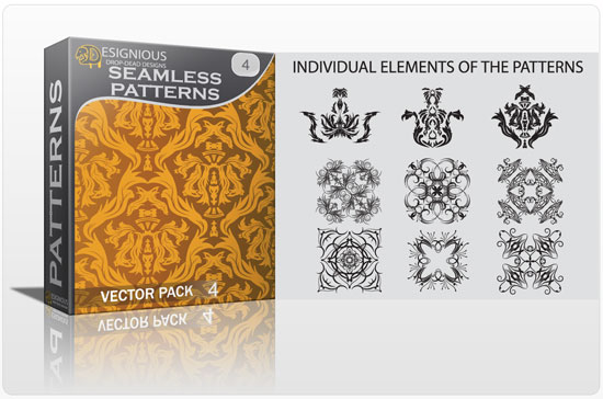 Seamless Patterns vector pack 4 5