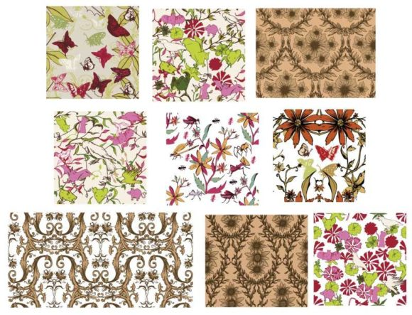 Seamless Patterns vector pack 5 products seamless5 prewiev
