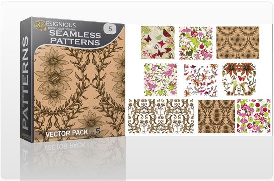 Seamless Patterns vector pack 5 products seamless5 1