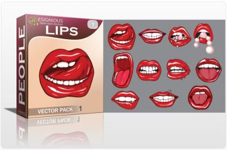 Lips vector pack People pearl
