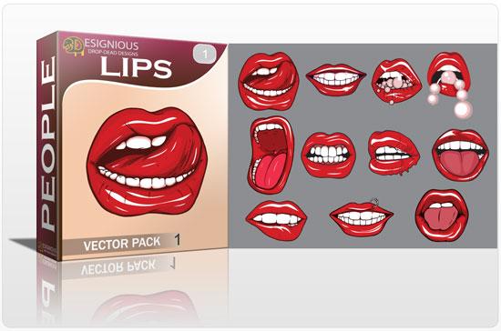 Lips vector pack 1