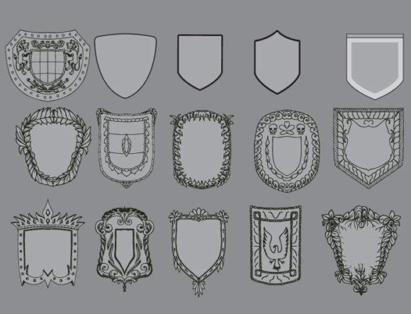 Shields vector pack products shields armor 1 prewiev