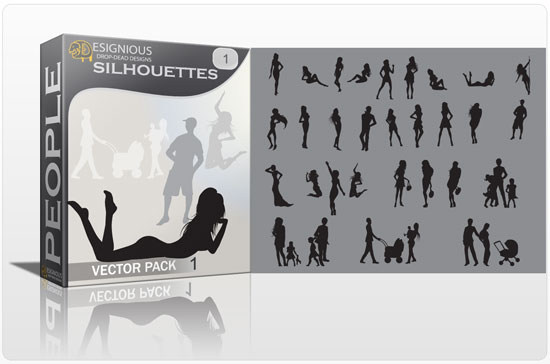 Silhouettes vector pack products silhouettes