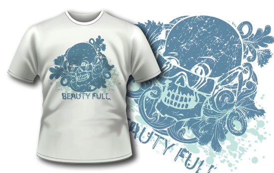 T-shirt design 33 products skull with sunglasses 33