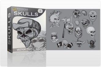 Skulls vector pack 4 Skulls bones