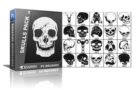 Skulls brushes pack 1 3