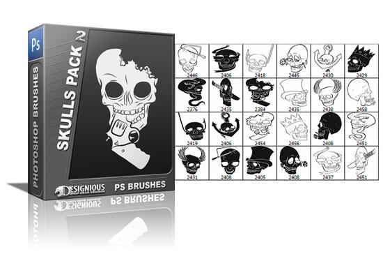 Skulls brushes pack 2 5