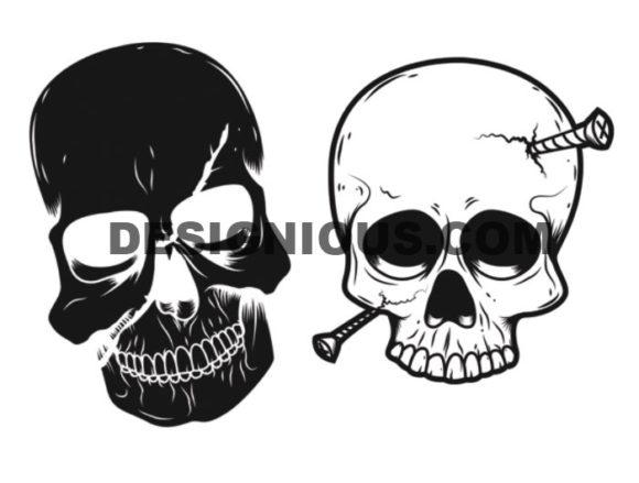 Skulls brushes pack 4 products skulls brush 4.1