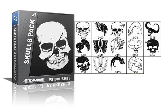Skulls brushes pack 4 products skulls brush 4