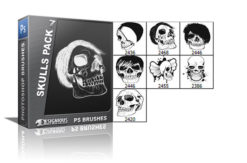 Skulls brushes pack 7 Skulls brushes [tag]