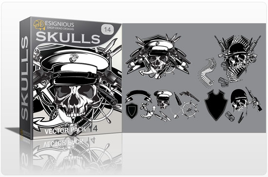 Skull vector pack 14 products skulls sailor pirate 14 1