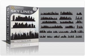 Skylines vector pack Buildings building