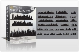 Skylines vector pack Buildings building