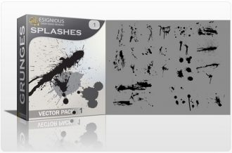 Splashes vector pack Halftones & grunges grunge