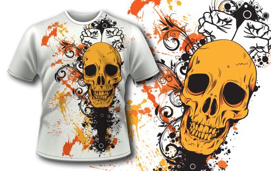T-shirt design 83 products splashes skull tshirt 83
