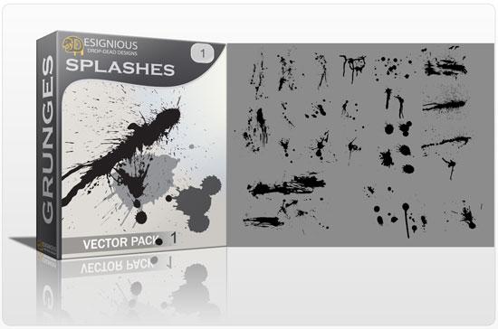 Splashes vector pack Halftones & grunges grunge