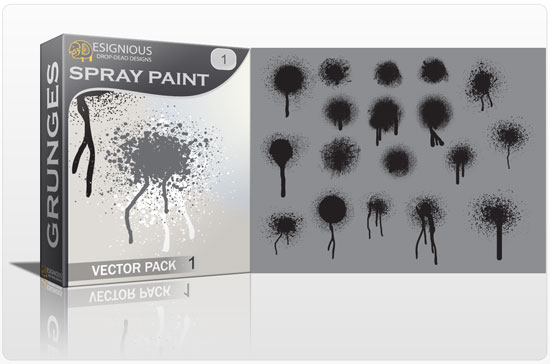 Spray paint vector pack Halftones & grunges grunge